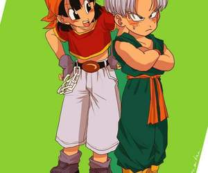 trupan, trunks dragon ball, and trunks y pan image