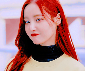 asian girls, red, and red hair image