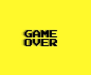 yellow and game over image