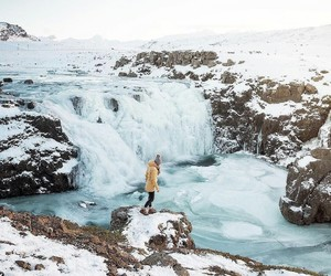 iceland, winter, and landscape image