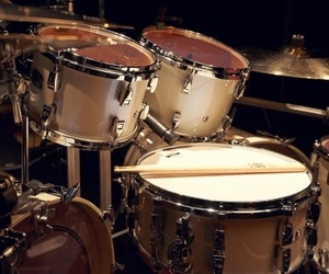 drummer, drums, and instruments image