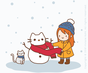 illustration, pepper, and winter image