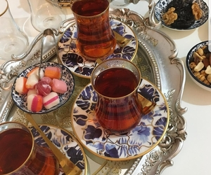 candy, tea, and turkey image