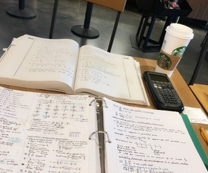 college, motivation, and starbucks image