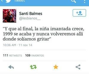 tweet, love of lesbian, and santi balmes image