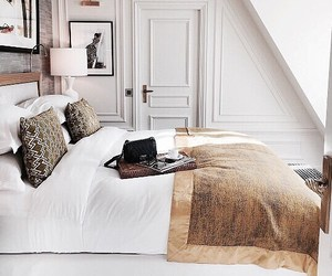 home, interior, and bed image