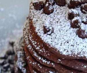 food, chocolate, and pancakes image