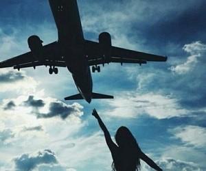 girl, sky, and travel image