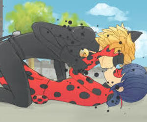 Chat Noir, love, and kiss image