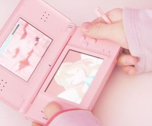 ds, pink, and pastel image