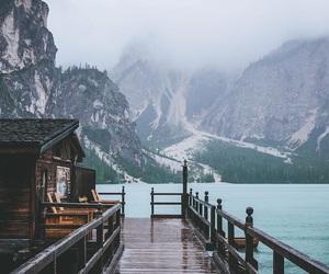 cold, mountains, and lake image