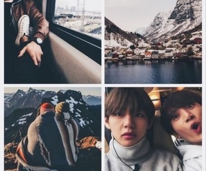 bts, wallpaper, and taekook image
