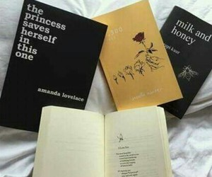 book, black, and poetry image