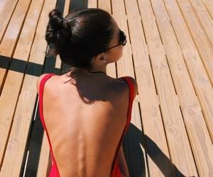 beach, bikini, and Hot image