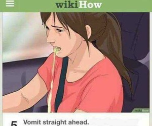 gross, wikihow, and vomit image