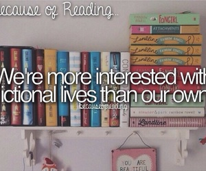 fictional and because of reading... image