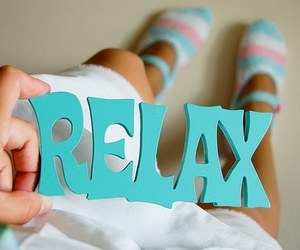 relax, blue, and text image