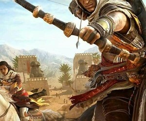 assassin's creed, origins, and bayek image