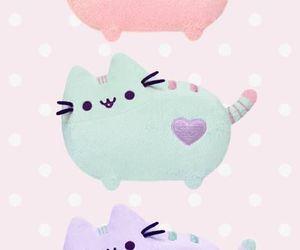cat, pastel, and pusheen image
