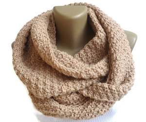 etsy, chunky scarf, and winter scarf image