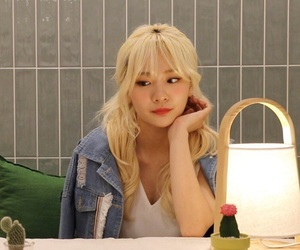 blonde, ulzzang girl, and low quality image