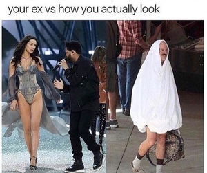 funny, the weeknd, and bella hadid image
