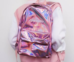 bag, pink, and aesthetic image