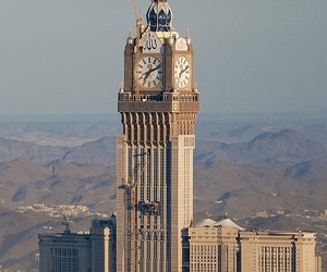 islamic, muslim, and mecca tower clock image