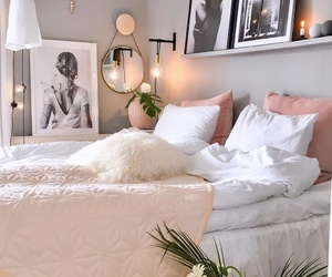 bedroom, Blanc, and home image