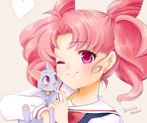 anime, pastel color, and sailor moon image