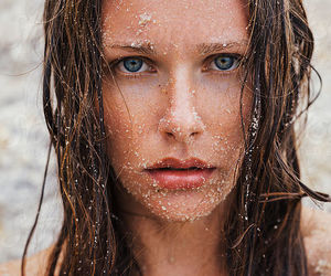 beauty, sand, and face image