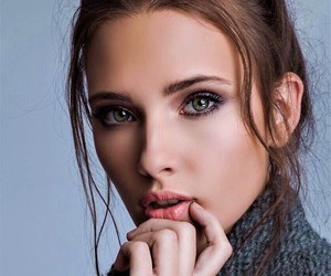 beauty, face, and Serbia image