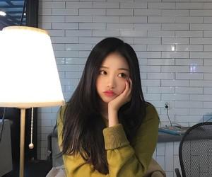 girl, lamp, and korean image