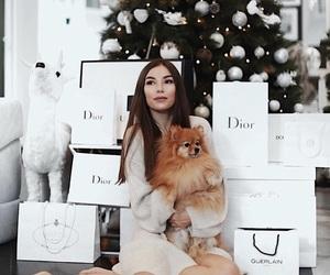 christmas, christmas tree, and dior image