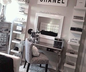 chanel, room, and bedroom image
