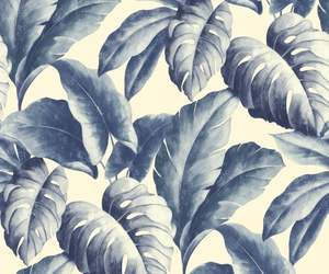 blue, leaves, and patterns image