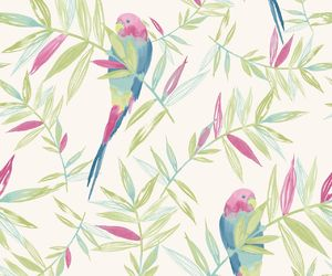 bird, leaves, and patterns image