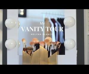 video, vanity desk, and makeup storage image