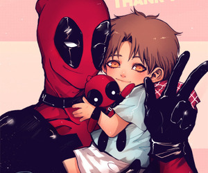 child, spider man, and spidey pool image