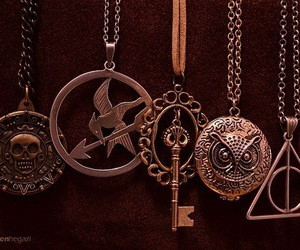 harry potter, necklaces, and pirates of the caribbean image