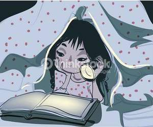 fille, lecture, and livre image