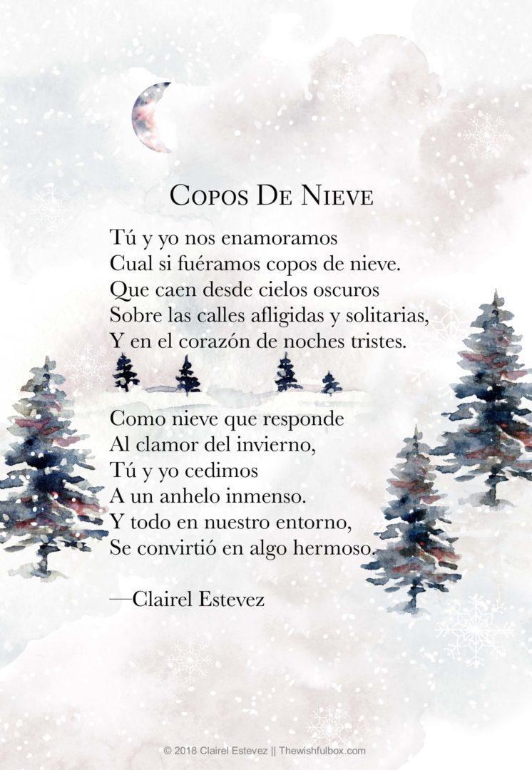Copos De Nieve Poema De Amor Invierno Poemas Poesia