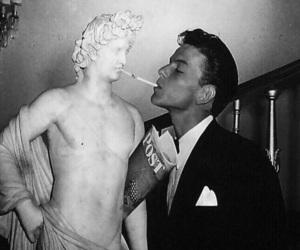 frank sinatra, vintage, and cigarette image