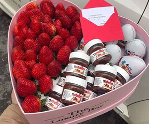 nutella, valentine, and chocolate image