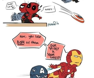 iron man, deadpool, and spiderman image