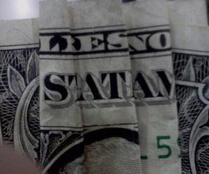 satan, money, and grunge image