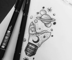 drawing, black, and star image