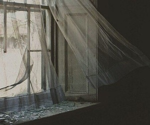 window, vintage, and curtains image
