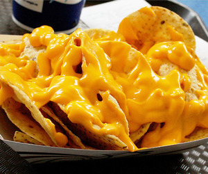 nachos, food, and cheese image