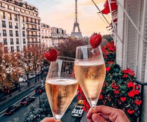 paris, france, and drink image